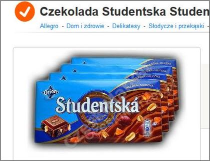 chocolate studentska